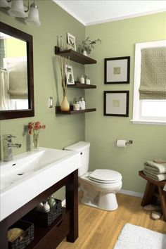 Bathroom colors? I like the decorative shelving too, but is it practical?