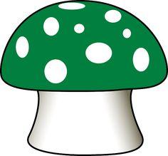 Cogumelo, Agaric De Mosca, Verde, Desenhos Animados
