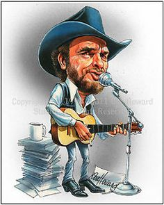 merle haggard caricature - Google Search