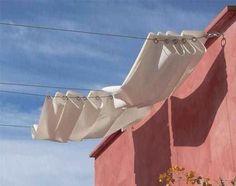 Garden Ideas and DIY Backyard Projects, Curtain System As An Impromptu Shade, DIY Ideas