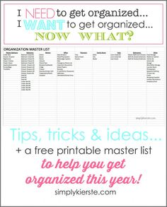 I need to get organized, I want to get organized…now what? A guide to getting organized!