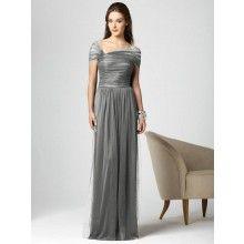 Ideas... TYAD137 Long Dark Grey Bridesmaid Dresses    www.2dayslook.com
