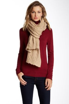 Cable Knit Cashmere Scarf on HauteLook