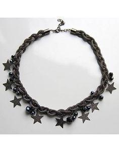 Sternenkette antiksilbern