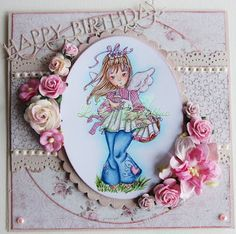Pysselbus: DT DigiBells: Bloghop for Birthday Muffin Angel!