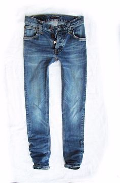 ladies   jeans Nudie   Grim Tim org.twisted blue  W29 L32 #NudieJeans #SlimSkinny
