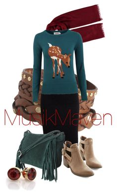 Bambi by musikmaven on Polyvore featuring polyvore, fashion, style, Louche, American Retro, BC Footwear, ASOS, Pieces, clothing, sweaterweather and fallfashion