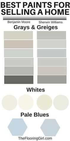 Best paint colors for selling a home.  Neutral paint shades.  #best #neutral #paint #shades #colors #selling #home #house