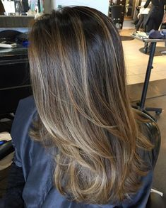Ideas For Purple Hair Highlights Ombre Brown Brown Hair Balayage, Brown Blonde Hair, Balayage Brunette, Light Brown Hair, Hair Color Balayage, Brunette Hair, Hair Highlights, Ombre Hair, Purple Hair
