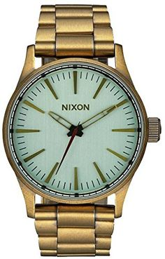 3e5a9218a0335 All Brass Green Crystal The Sentry 38 SS Watch by Nixon -- You can.  Affordable WatchesMen s WatchesGold ...