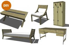 A Gold Mine of Free Furniture Plans — The Design Confidential