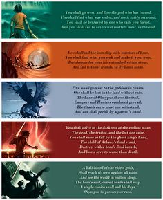 all the prophecies from the 5 Percy Jackson and the Olympian books