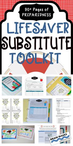 Make a day out of the classroom easy as can be with this extremely detailed and comprehensive resource! It's filled with everything you need to set up a Substitute Teacher Toolkit so that when life (illness, family emergency, travels, jury duty…) gets in the way of teaching, you can set up your students and substitute teacher for a successful, safe and productive day! It even includes Emergency Lessons Plans for 3 days of instruction! A superb resource for any teacher!