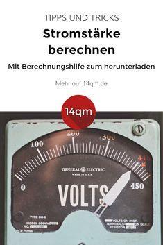 Wie berechne ich die Stromstärke eines Verbrauchers? Hier