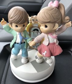 Precious Moments Rock Around the Clock Sock Hop~Musical Figurines~ 112410 | eBay