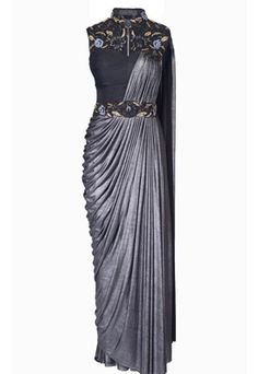 Draped Cocktail Gown Saree is part of Drape gowns - Shop draped cocktail gown saree , freeshipping all over the world , Item code Saree Designs Party Wear, Saree Blouse Designs, Saree Draping Styles, Saree Styles, Saree Gown, Dhoti Saree, Indowestern Saree, Lace Saree, Drape Gowns