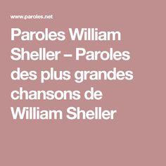 Paroles William Sheller – Paroles des plus grandes chansons de William Sheller