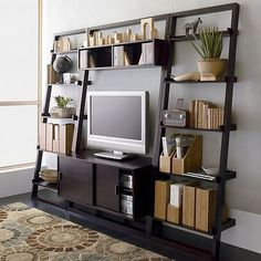 This Crate & Barrel media stand and bookshelves would look great in anyone's home.