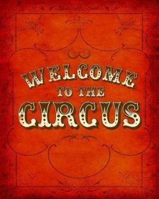First impressions are everything! Welcome guests to your party with this vintage circus print. Dark Circus, Circus Art, Circus Theme, The Circus, Barnum Circus, Circus Tents, Circus Cakes, Circo Vintage, Art Vintage