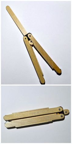 Popsicle Stick Butterfly Knife #woodworking