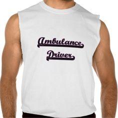 Ambulance Driver Classic Job Design Sleeveless T-shirt Tank Tops