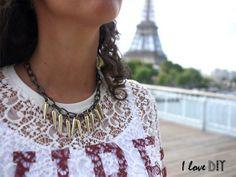 On se fabrique un collier spiky sur www.ilovedoityourself.com