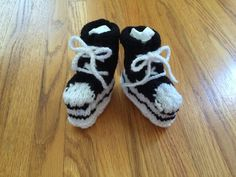 Baby High Top Booties in Black Hand Knit size 5 or by CozeeQuilts Baby Boy Booties, Baby Shoes, Handmade Baby Quilts, Yarn Sizes, Baby Slippers, Boy Quilts, Baby Knitting, Knitted Baby, Handmade Items