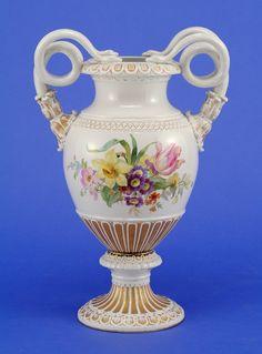 Meissen Porcelain Manufactory (Germany) — Snake Handles Vase 19th century