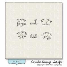 Verve Stamps: Circular Sayings