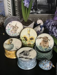 Jewellery Storage, Jewelry Box, Decoupage Box, Easter Wreaths, Craft Items, Easter Crafts, Snow Globes, Shabby Chic, Bunny