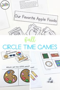 Do you need games for your whole group circle time? This HUGE pack includes 40 whole group games covering 20 different skills. Each games includes labels, instructions and the printables needed. Preschool Centers, Preschool Learning Activities, Play Based Learning, Preschool Classroom, Learning Centers, Circle Time Games, Social Emotional Development, Letter Identification, Group Games