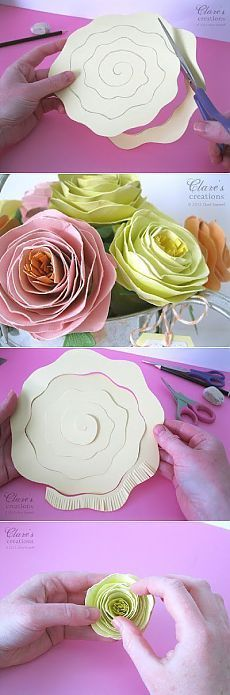 48 Ideas Flowers Diy Origami For 2019 Giant Paper Flowers, Felt Flowers, Diy Flowers, Fabric Flowers, Wedding Flowers, Diy Paper Roses, Easy Paper Flowers, Flowers Decoration, Pink Paper