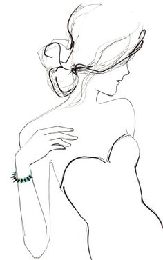 Fashion Illustration Patterns Eddie Borgo Serpent Wrap Bracelet - but it's the illustration i love - Figure Drawing, Painting & Drawing, Ball Drawing, Drawing Drawing, Drawing Sketches, Art Drawings, Sketching, Jewellery Sketches, Jewelry Sketch