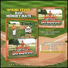 Baseball Memory Mate Template For Photoshop SPRING by Sharkbyte2k