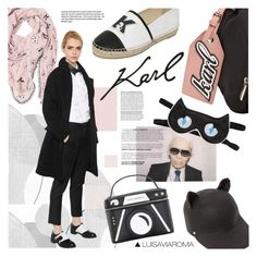 """Krazy for Karl"" by luisaviaroma ❤ liked on Polyvore featuring Karl Lagerfeld, Ella Doran, Garance Doré, modern, women's clothing, women, female, woman, misses and juniors"