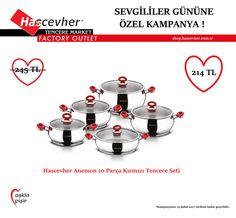 KAMPANYA │14 Şubat Sevgililer Gününe özel kampanya dahilinde ki Hascevher Anemon 10 Parça Kırmızı Tencere Setine sadece 214 TL 'ye Online Alışveriş Sitemiz shop.hascevher.com.tr 'den sanal pos yardımıyla sahip olabilirsiniz. Dilerseniz de 0530 852 8 426 numaralı WhatsApp Sipariş Hattımızdan kapıda nakit ödeme seçeneğiyle Türkiye'nin her yerinden sipariş verebilirsiniz. Hascevher #AşklaPişir ! #Hascevher #KahramanmaraşOrganizeSanayi #KahramanmaraşBinevler #KahramanmaraşSanayi