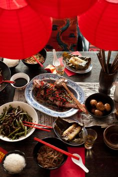 ✈ Chinese food that was appropriate for a New Year feast