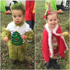 Brother/sister costume Cindy Lou Who and The Grinch