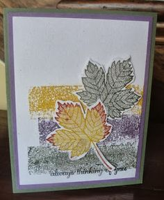Rachel's Stamping Place: Falling for Techniques Fall Cards, Christmas Cards, Fall Paper Crafts, Fall Projects, Thanksgiving Cards, Card Tutorials, Masculine Cards, Card Tags, Creative Cards