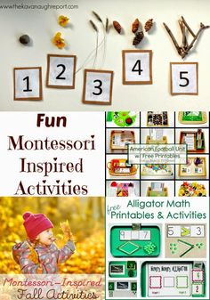 Share it Saturday has been filled with wonderful ideas lately. I absolutely love seeing what so many great bloggers and families are sharing, I hope you do too. This week I decided to feature Montessori Inspired activities. From Fall football, to munching alligators you don't want to miss these great ideas.  Letter N Montessori …