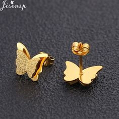 Jisensp Cute Stainless Steel Stud Earrings for Women Everyday Jewelry Gift Tiny Star Moon Earrings pendientes mujer moda 2018,#Earrings#Stud#Everyday