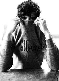 any guy in rodarte sweatshirt is fine by me.