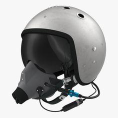 Russian Jet Fighter Pilot Helmet Max - 3D Model