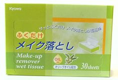 Kyowa Makeup Remover Wet Tissue with Olive Oil Green Pack of 2 * Want additional info? Click on the image. (Note:Amazon affiliate link) Make Up Remover, Olive Oil, Image Link, Packing, Notes, Amazon, Makeup, Green, Bag Packaging