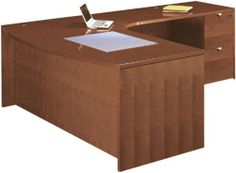 "72"" x 84"" Wood Veneer Bow Front L Shaped Desk HGA136 by Cherryman Furniture. $1849.00. Wire management grommets. Premium grade quality veneer construction. File drawers accommodate letter or legal size files. Choose from Chestnut Cherry or Henna Mahogany. All drawers feature full extension ball bearing slides. 72"" x 84"" Wood Veneer Bow Front L Shaped DeskbyCherryman Furniture Trusted: 20+ Years Experience. Overall: 71.75 in W x 84 in D x 29 in H ,"