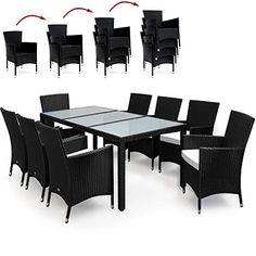 Elegant Rattan Sitzgruppe 8+1 Modell 1 | We ♥ Rattan | TecTake | Pinterest |  Sitzgruppe, Rattan Und Modell