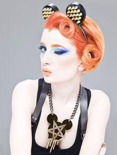 Orange hair #bright #coloured #dyed #hair