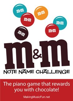 M&M Note Name Challenge Music Theory Worksheet - Note Names Music Flashcards, Flashcards For Kids, Worksheets For Kids, Piano Lessons For Kids, Music Lessons, Piano Games, Music Theory Worksheets, Free Printable Worksheets, Printables