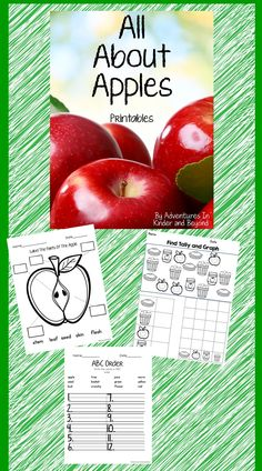 Save your ink! This pack of printables is the perfect way for your students to learn all about apples!  Included are 5 Science Printables Label the parts of an apple Label the stages of an apple Apples -Have, Are, Make  Apple – fact web Fact foldable  *5 Math Printables: Patterns Color By Numbers Count, Tally, Graph Graph your favorite apple Roll and Cover  * 5 ELA Printables: ABC order Making Words Word Search Syllables Sentence Fix Up