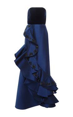 Grace Kelly Embellished Strapless Gown by JOHANNA ORTIZ for Preorder on Moda Operandi
